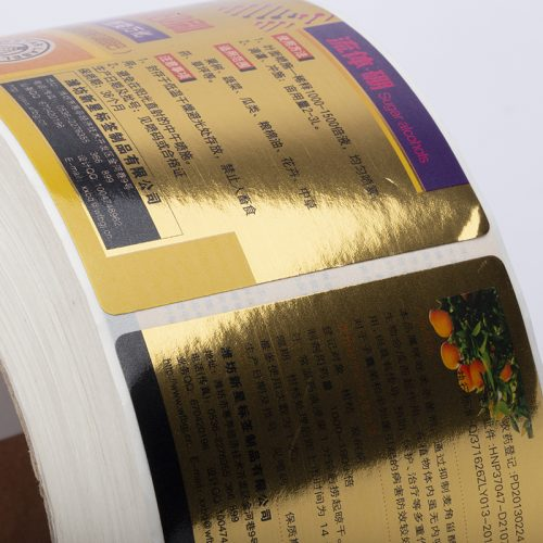 金卡纸不干胶标签