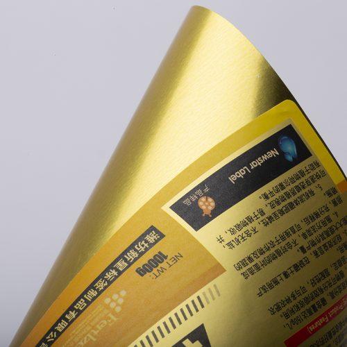 金卡纸覆亚膜不干胶标签